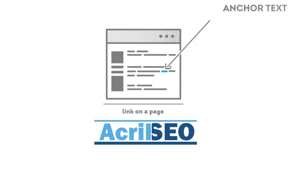 anchor text-Acril SEO